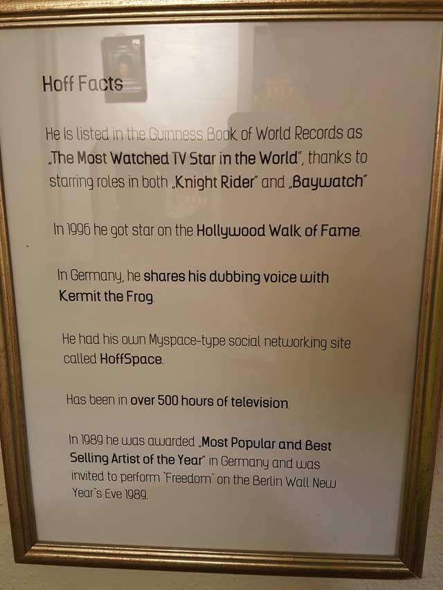 David Hasselhoff Museum Berlin