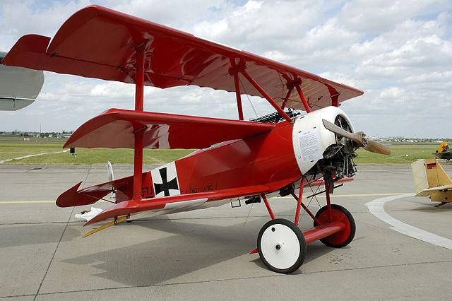 Flugzeug Roter Baron Manfred von Richthofen
