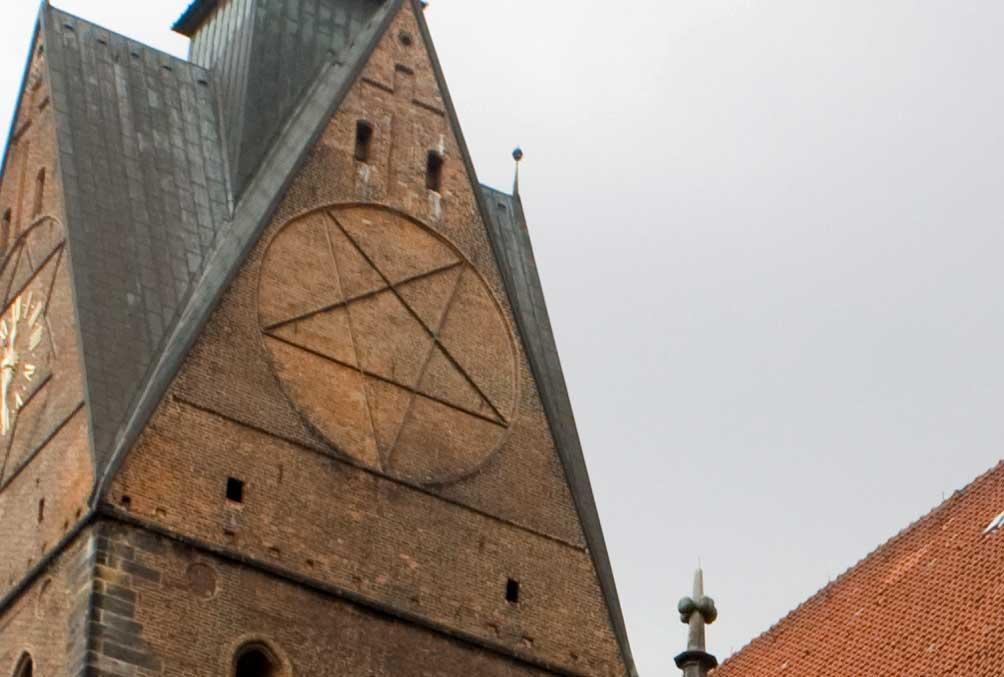 Marktkirche Hannover Pentagramm
