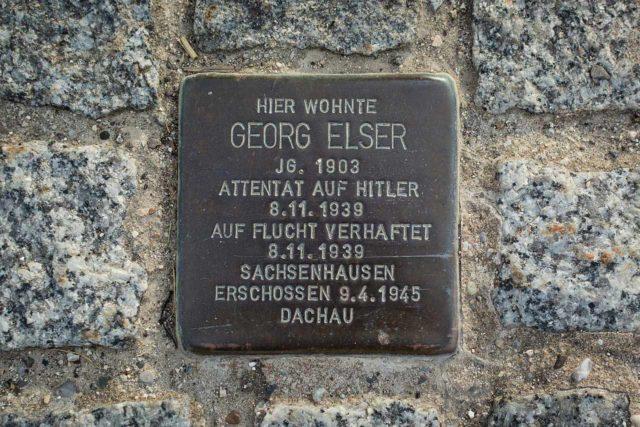 Georg-Elser-Stolperstein