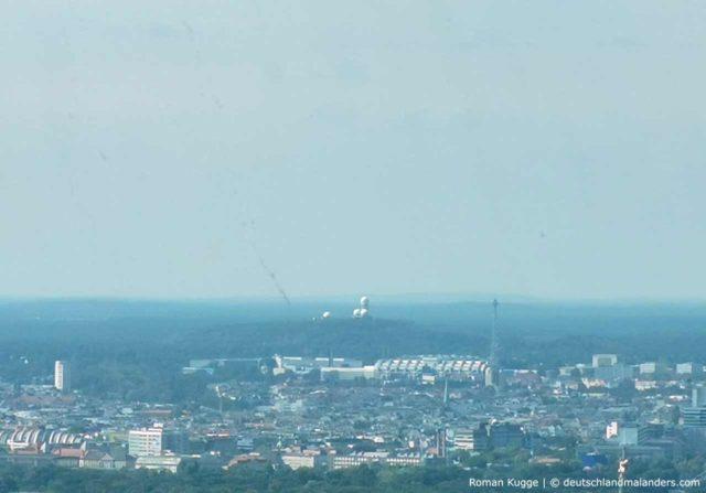 Ausblick Aussicht Fernsehturm Berlin Teufelsberg