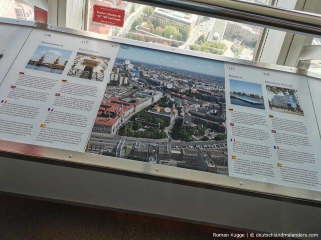 Berliner Fernsehturm Infotafeln