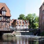 Lüneburger Hafen Abstmühle und Lüner Mühle mit der Brausebrücke