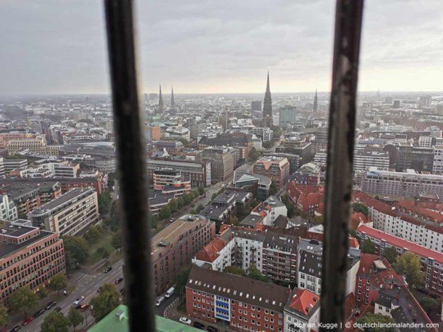 Turm Michel Hamburg Kirche St. Michaelis Ausblick
