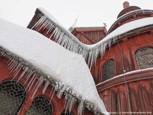 Stabkirche Hahnenklee Winter Schnee