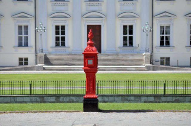 Historischer Feuermelder Berlin Schloss Bellevue Tiergarten
